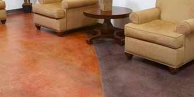 Fast-Stain by Wescoat creates vibrant colors on the floor.