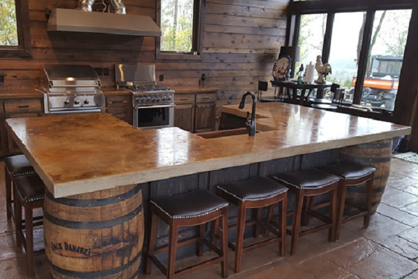 Creating a kitchen with at Jack Daniels whiskey theme.