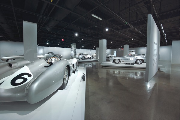 polished concrete that reflects the cars in this dealership