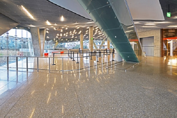 science museum installs polished concrete