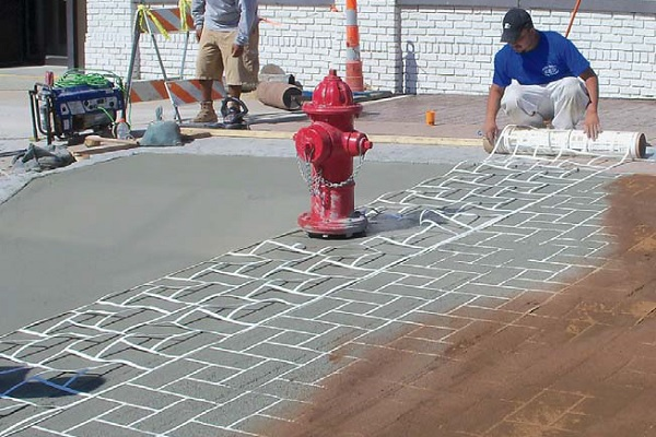 Business of stencilled concrete