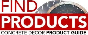 product guide on concrete decor website