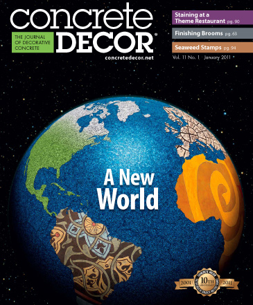 Concrete Decor magazine cover from January 2011