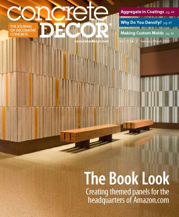 Concrete Decor magazine cover from February / March 2012