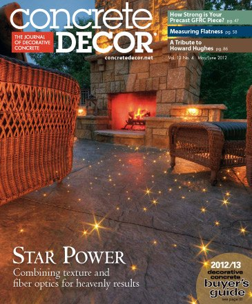 Concrete Decor magazine cover from May/June 2007 Photo courtesy of Artistic Concrete Surfaces