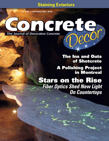 Concrete Decor magazine cover from November 2007 Photo courtesy of J & M Lifestyles