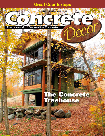 Concrete Decor magazine cover from February 2008