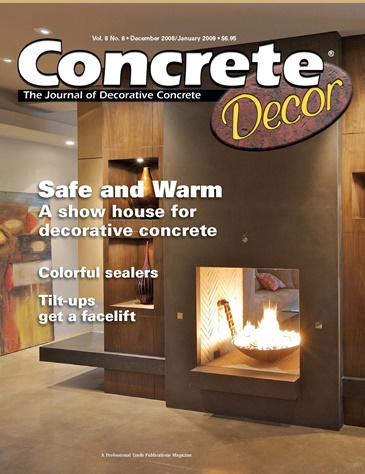 Concrete Decor magazine cover from December 2008