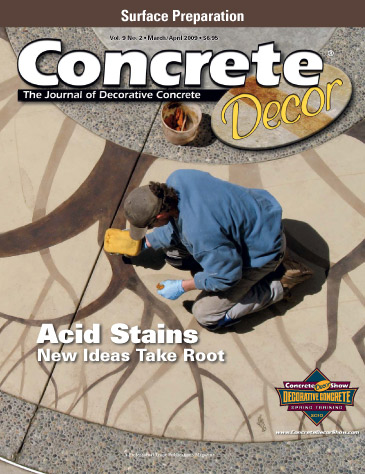 Concrete Decor magazine cover from March/April 2009