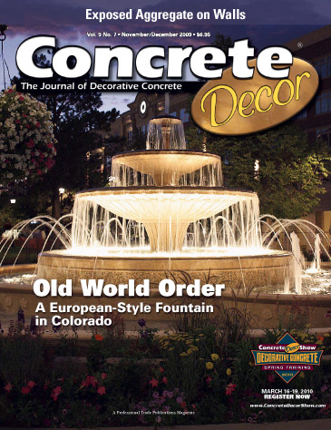 Concrete Decor magazine cover from November/December 2009