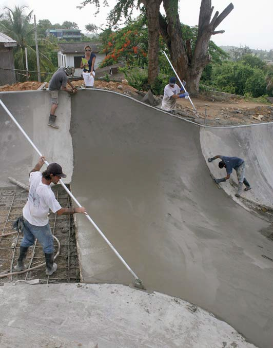 Finishing the last transition within the main bowl of the park.