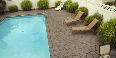 A restored pool deck by Unique Comcrete