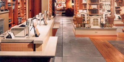 From department stores to convenience stores, decorative concrete is turning up in retail spaces across the country.