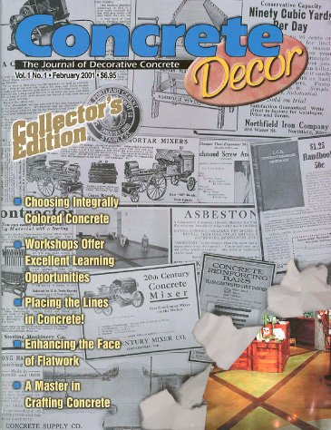 Concrete Decor - Vol. 1 No. 1 - February 2001