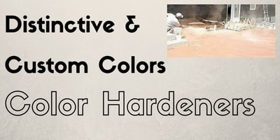 Color hardeners for concrete enhance overall aesthetics.
