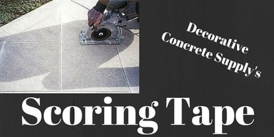 Scoring tape for cutting into concrete, easily identifies where you need to cut for a flawless finish.