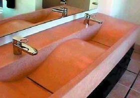 concrete wave sink Sonoma Cast Stone