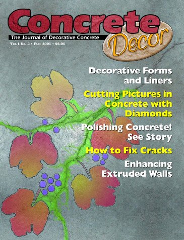 Concrete Decor - Vol. 1 No. 3 - Fall 2001
