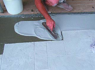 using a square trowel