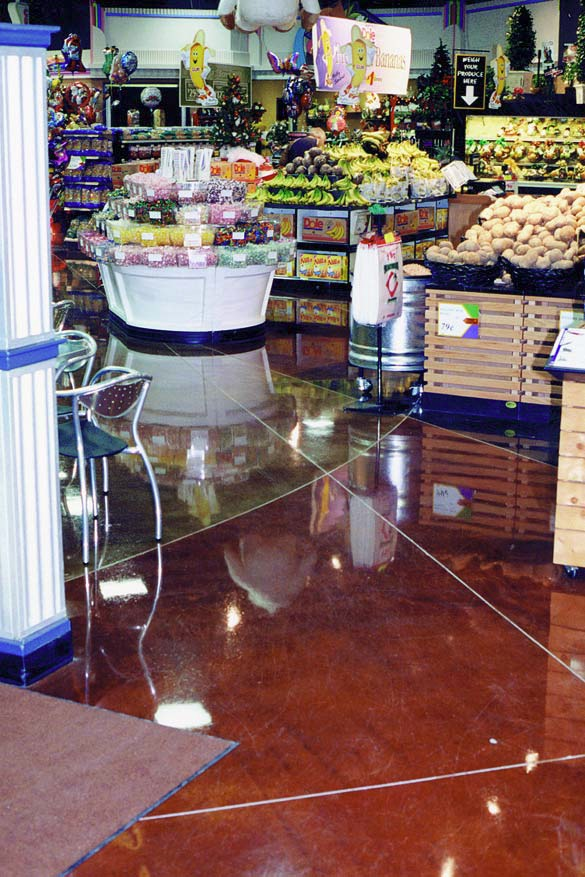 Sealing concrete in high traffic areas creates is own set of challenges. This retail space shines with a quality sealer.
