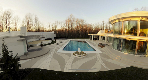 Winner of the WOW! Award for best overall project and one of two 1st Place winners in the Multiple Applications, Over 1,500 Square Feet category: Cutting Edge Decorative Concrete, Richfield, Ohio, for RH-1, a private residence.