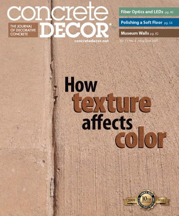 Concrete Decor - Vol. 11 No. 4 - May/June 2011