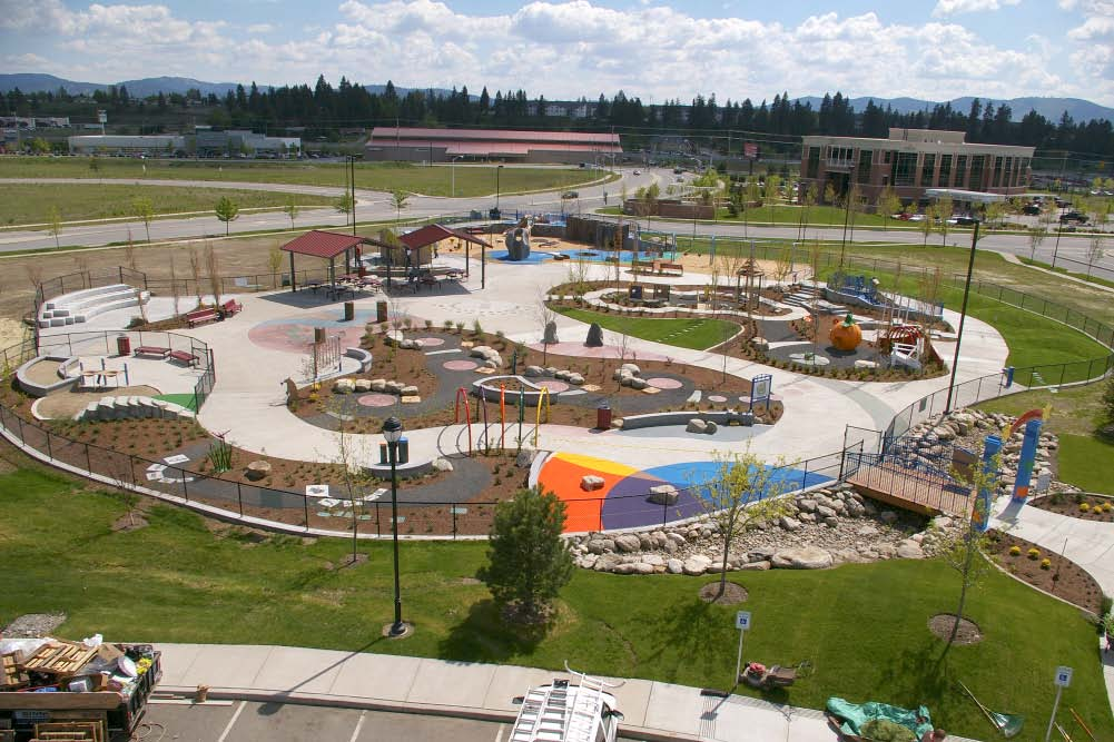 Overview of Discovery Playground at Mirabeau Point Park