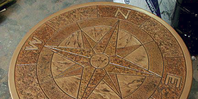 Compass rose table by Proline.