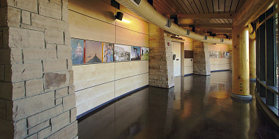 Decorative concrete played a role in the construction of a Native American landmark in Ignacio, Colo.