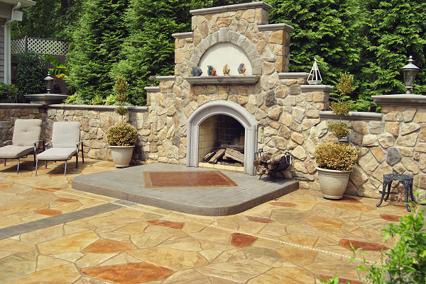 "The ""Hidden Oasis"" project won Greystone Masonry Inc. a 2012 Decorative Concrete Award from the American Society of Concrete Contractors in the category of Cast in Place, Stamped, Under 5,000 Square Feet."