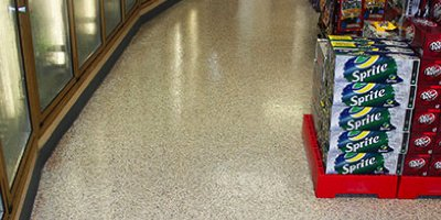 A slip resistant floor coating for busy commercial applications.