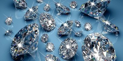 Diamonds, part of an abrasive used to cut through the hardness of concrete