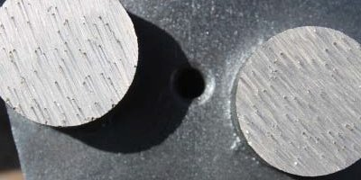 What are the comet trails looking things on a diamond tool for concrete polishing machines called.