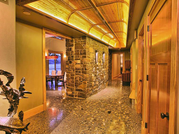 Polished, Under 5,000 Square Feet, First Place Rosebud Concrete, Myerstown, Pa. The River Lodge on the Susquehanna