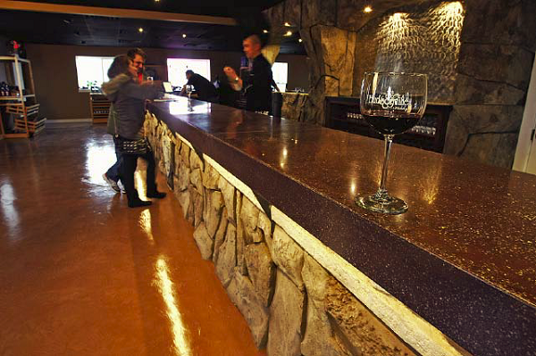 Multiple Applications, Under 5,000 Square Feet, First Place Cornerstone Decorative Concrete, Fennville, Mich., Hudsonville Winery/Pike 51 Brewery