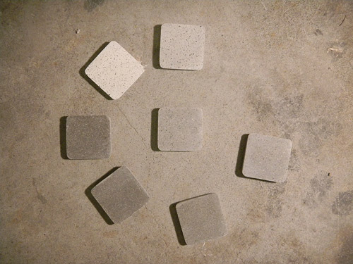 After exposing the concrete, lay out your hard samples  to establish your patch blend.