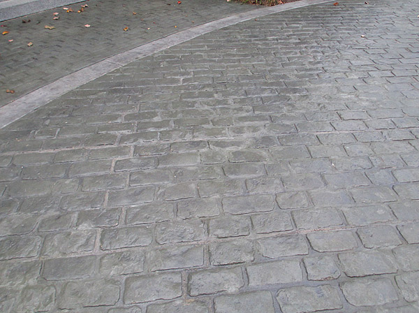 A Nuangola, Pa., driveway with salt damage.