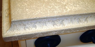 Concrete Countertop Victorian detail edge