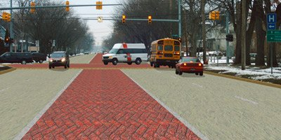 decorative concrete roadway