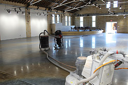 art gallery polished concrete floor