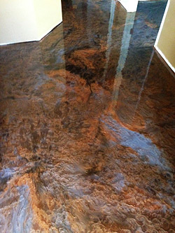 Using metallic epoxy on a concrete floor