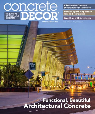 Concrete Decor - Vol. 14 No. 4 - May/June 2014