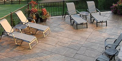 Stamped concrete patio by Paul Schneider