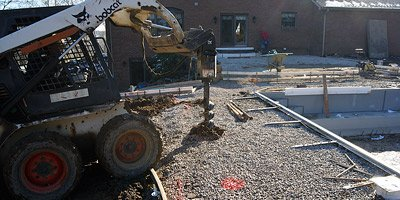 Building a concrete pool deck subgrade