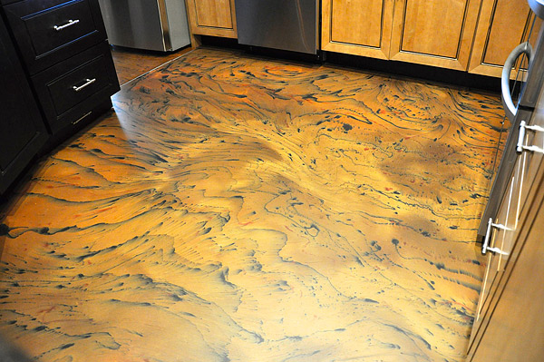 Westcoat Liquid Dazzle tiger striped concrete floor