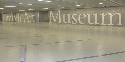 Polished concrete at Kimball Art Museum