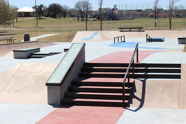 Integrally Colored Concrete At Fort Worth S Skateboard
