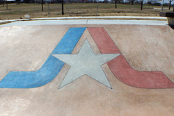 Decorative concrete used in Dallas skatepark