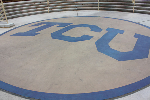 Residence Halls At Tcu With A Decorative Concrete Flair