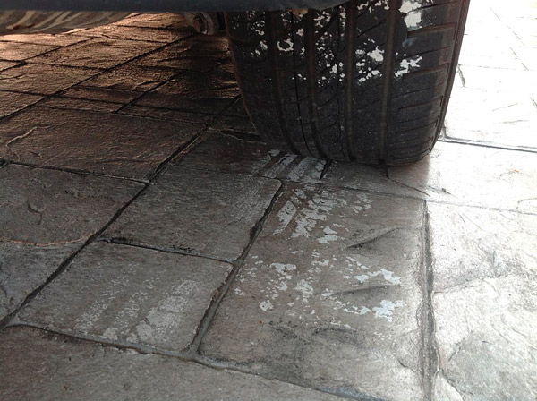 how to fix stamped concrete